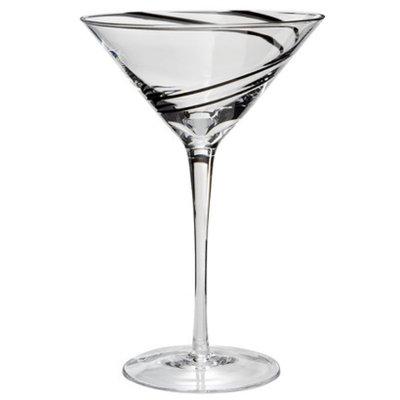 Luigi Bormioli Black Swirl Martini Glasses Set of 4