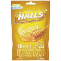Halls Drops, Honey-lemon, 30-count Drops (pack Of 12)