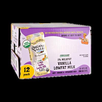 Organic Valley Organic 1% Milkfat Vanilla Lowfat Milk - 12 PK