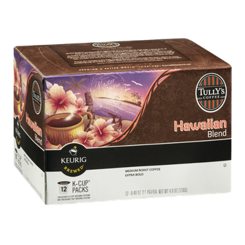 Tully's Coffee Hawaiian Blend Medium Roast K-Cup - 12 CT