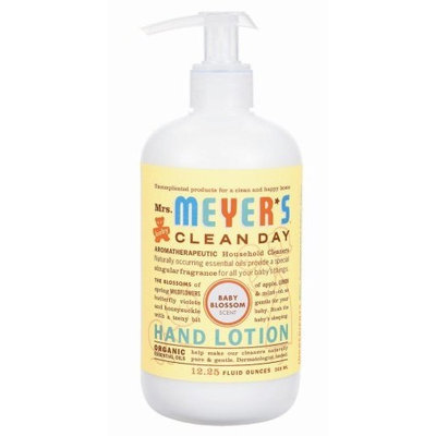 Mrs. Meyer's Clean Day Hand Lotion, Baby Blossom, 12.25-Ounce Bottles (Case of 6)