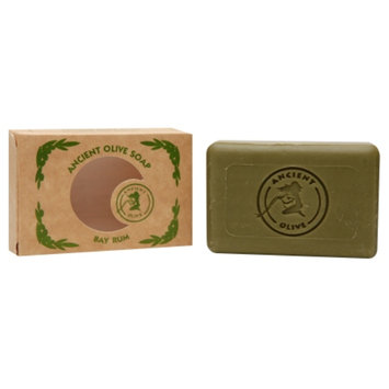 Ancient Olive Natural Olive Oil & Laurel Oil Molded Bar Soap, Bay Rum, 3.53 oz