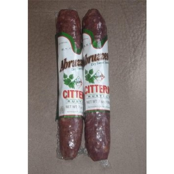 Citterio Abruzzese Dry Sweet Rustico Sausage Salami (2 Pack)