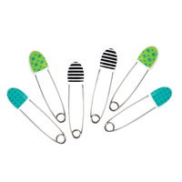Sassy Diaper Pins - 6 pack Deco, 1 ea