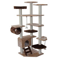 Kitty Mansions Troy Cat Tree, Brown/Beige