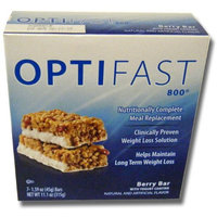 OPTIFAST 800 Berry with Yogurt Coating Meal Replacement Bars 6 Carton (42 Bars)