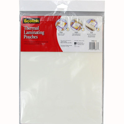 3m 3M Laminating Supplies Letter size thermal laminating pouches, 3 mil