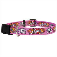 Yellow Dog Design LUVP100TC I Luv My Dog Pink Standard Collar - Teacup