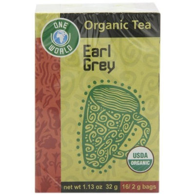 One World Earl Grey Tea, 100% Organic, 16-Count Tea Bags (Pack of 6)