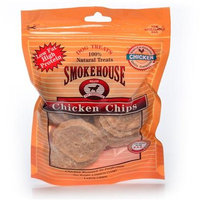 Smokehouse Pet Products Smokehouse Chicken Chips 4Oz (Resealable Bag) [Options : Sm Chicken Chips Large 4Oz]