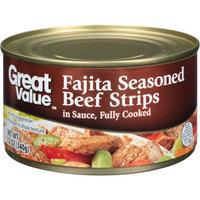 Great Value Fajita Seasoned Beef Strips in Sauce, 12 oz