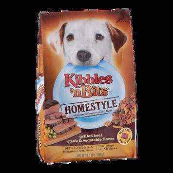 Kibbles 'n Bits Dog Food Grilled Beef Steak & Vegetable Flavor