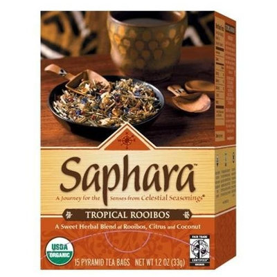 Celestial Seasonings® Saphara Tropical Rooibos, 15 Pyramid Tea Bags, 1.2 Ounce (Pack of 6)