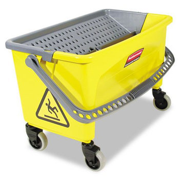 Rubbermaid Commercial Yellow Press Wring Bucket For Microfiber Flat Mops