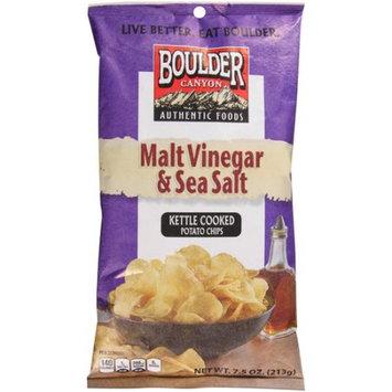 Inventure Foods Boulder Canyon Malt Vinegar & Sea Salt Kettle Cooked Potato Chips, 7.5 oz