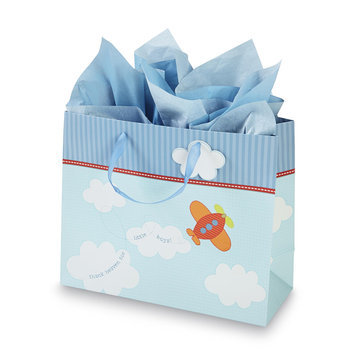 C.r. Gibson Company C.R. GIBSON COMPANY Gift Bag & Tissue Paper Baby Boy - C.R. GIBSON COMPANY