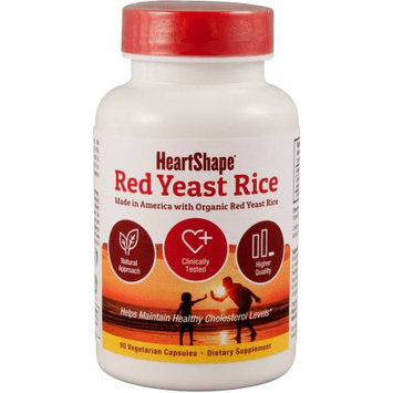 HeartShape Red Yeast Rice Dietary Supplement, 90 count