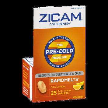 Zicam Cold Remedy Rapidmelts Quick Dissolve Tablets Citrus Flavor - 25 CT