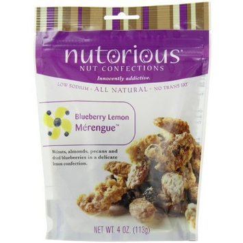 Nutorious Nut Confections Nutorious Nuts, Blueberry Lemon Merengue, 4-Ounce Pouches (Pack of 6)