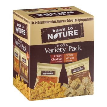 Back to Nature Crackers Variety Pack - 14 CT