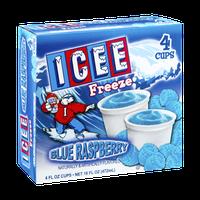 Icee Freeze Blue Raspberry Cups - 4 CT