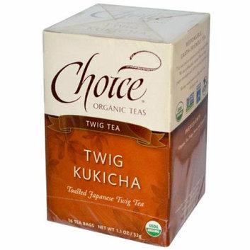 Choice Organic Teas Twig Tea Twig Kukicha 16 Tea Bags Case of 6