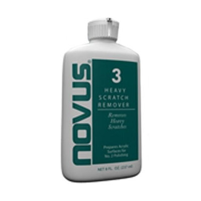 Novus #3 Heavy Scratch Remover for Plastics, 8 oz.