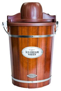 Nostalgia Electrics - Vintage Collection 6-quart Ice Cream Maker - Dark Brown