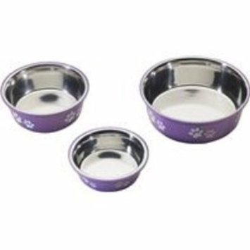 Ethical Pet Products (Spot) DSO6127 32-Ounce Fusion Designer Stainless Steel Dog Bowl, Medium, Purple