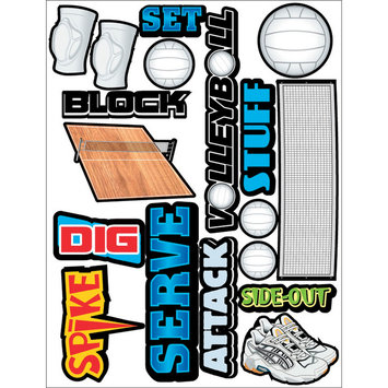 Outdoors & More 121735 Themed Die Cut Assortment-Volleyball