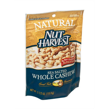 Nut Harvest Natural Sea Salted Whole Cashews