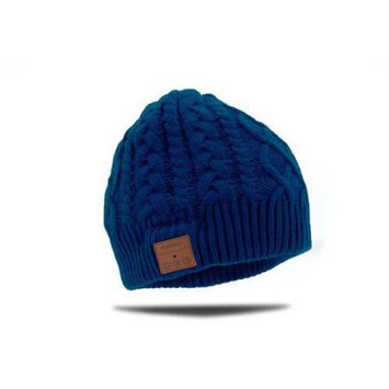 Tenergy Cable Knit Bluetooth Beanie w/ Built-in Speakers - Dark Blue