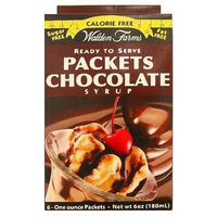 Walden Farms Chocolate Syrup Packets (Six 1 Oz. Packets)