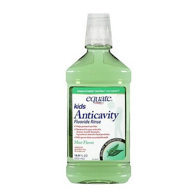 Equate Kids' Anticavity Mint Flavor Fluoride Rinse