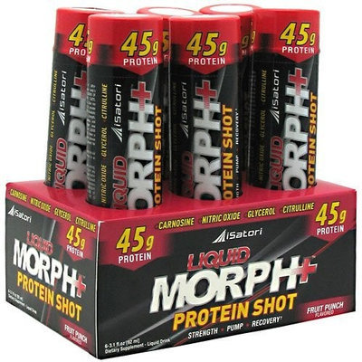 iSatori Liquid Morph Protein Shot, Fruit Punch 6- 3.1 fl oz (92 ml) vials