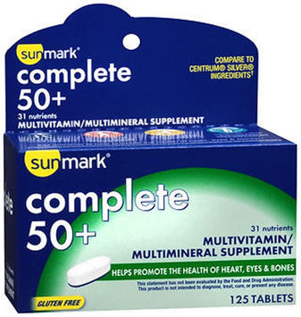Sunmark Complete 50 Plus Multivitamin-Multimineral Tablets, 125 Tabs by Sunmark