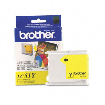 Brother International LC51Y Yellow Ink MFC240c-440cn-665c