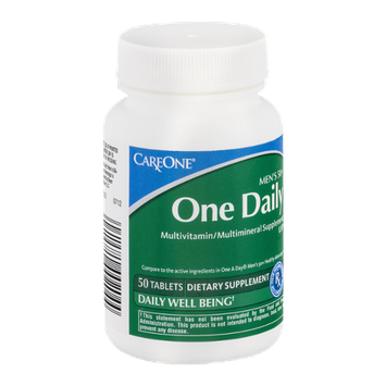 CareOne Men's 50+ One Daily Multivitamin/Multimineral Supplement Tablets
