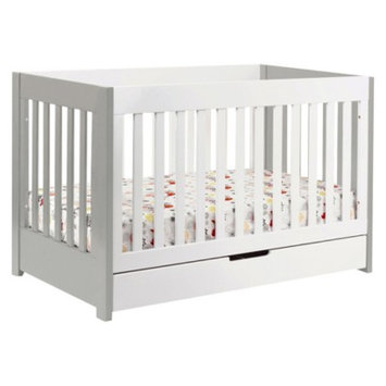 Babyletto Mercer 3-in-1 Convertible Crib with Toddler Rail - Grey/White