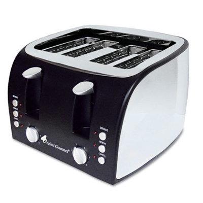Original Gourmet Food Co. Coffee Pro 4-Slice Multi-Function Toaster with Adjustable Slot Width
