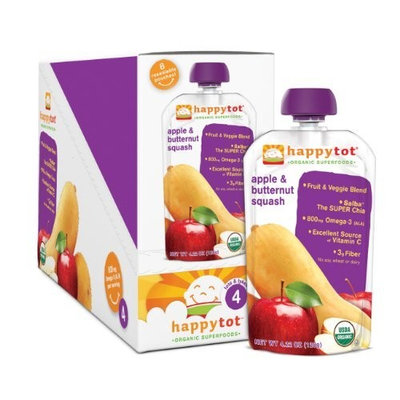 Happybaby Happy Tot Organic Toddler Food, Butternut Squash & Apple, 4.22 Ounce (Pack of 16)