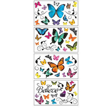 Paper House Productions, Inc Sticky Pix Removable & Repositionable Ultimate Wall Sticker Appliques - Butterfly