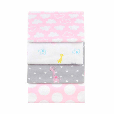 Child of Mine by Carter's Love is in the Air 4-Pack Flannel Blankets
