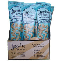 Trophy Nut All Natural Cashews, 2.0-Ounce Tubes (Pack of 12)