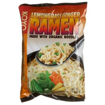 Koyo Lemon Grass Ginger Ramen, 60-Gram Packages (Pack of 12)