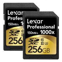 Lexar 256GB Professional 1000x SDHC/SDXC UHS-II Memory Card 2-Pack