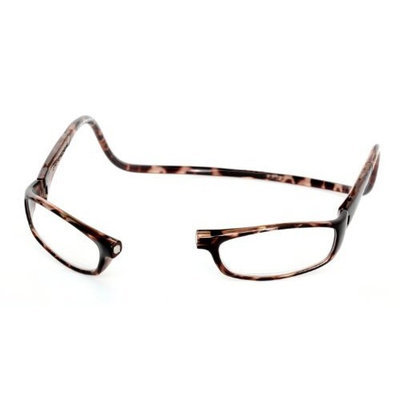 CliC Euro Adjustable Front Magnetic Connect Reading Glasses; Dark Tortoise