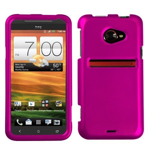 MYBAT Titanium Solid Hot Pink Phone Protector Cover for HTC EVO 4G LTE