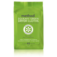 method squeaky green dryer cloths free & clear