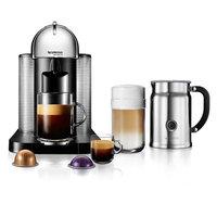 Nespresso VertuoLine Coffee & Espresso Machine with Aeroccino+ Milk Frother (Grey)